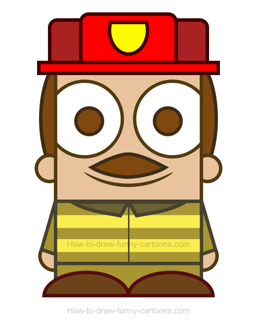 Firefighter clipart funny Clipart How A Draw Firefighter