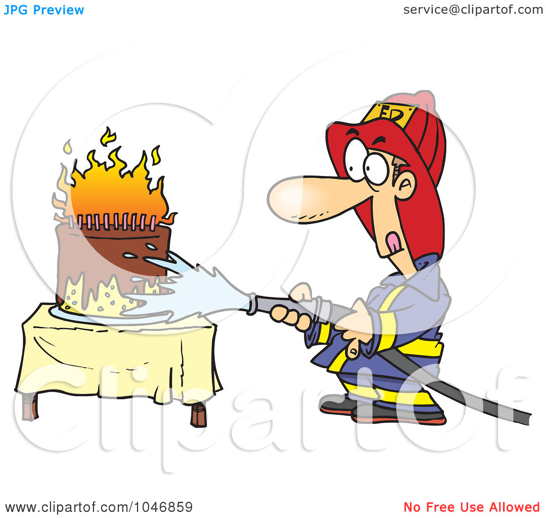 Firefighter clipart funny Clipart  Royalty Clip (RF)
