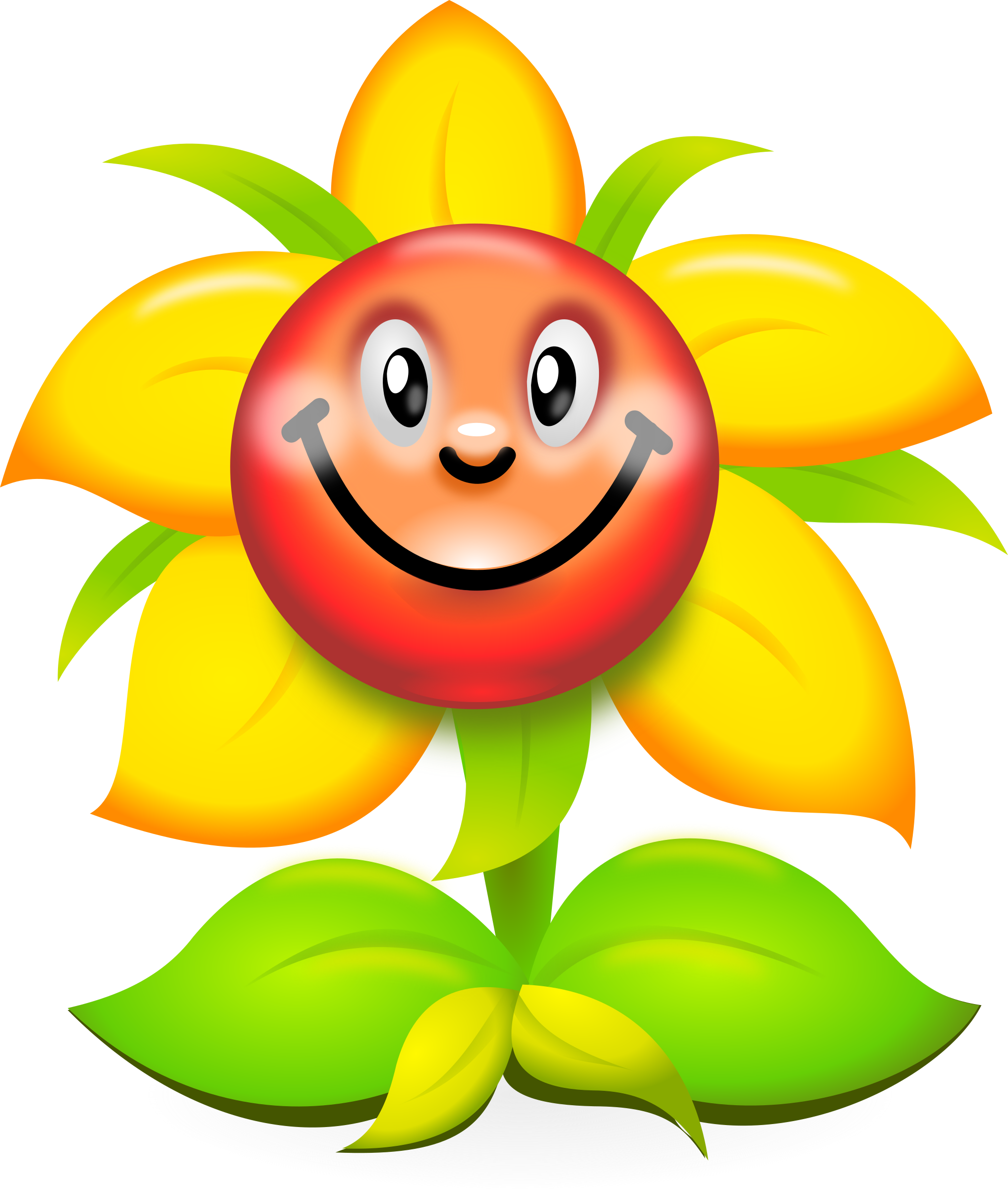 Plant clipart funny Flower Yellow quality Character Clipart