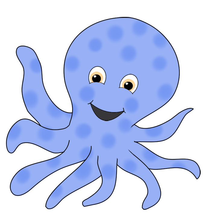 Octopus clipart ride Blue ringed octopus smiling Octopus