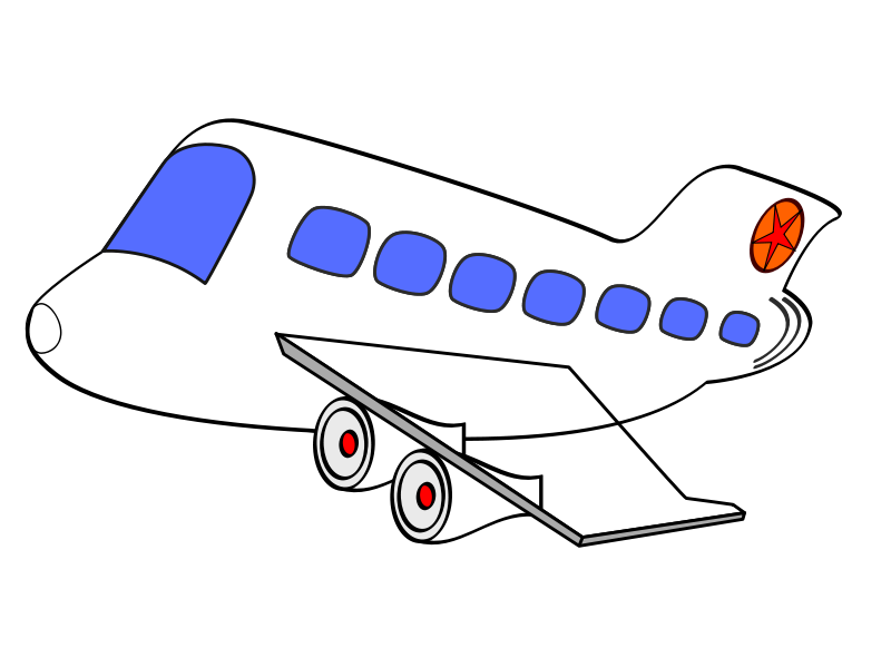 Comic clipart airplane Transport New Free Clip Art