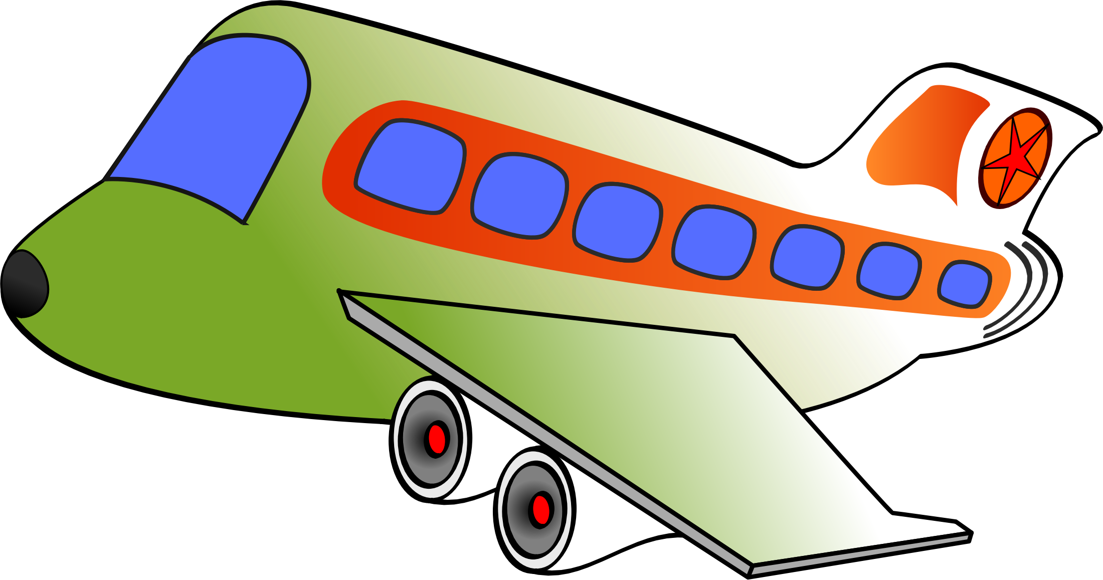 Airplane clipart funny Airplane Clipart two funny airplane