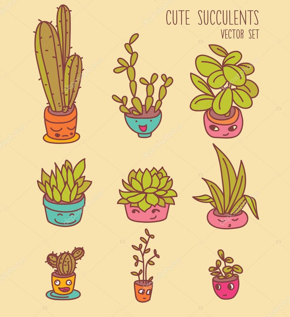 Plant clipart funny  cute — of plants