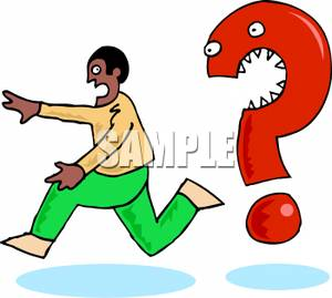 Question Mark clipart funny A Question A  Chased