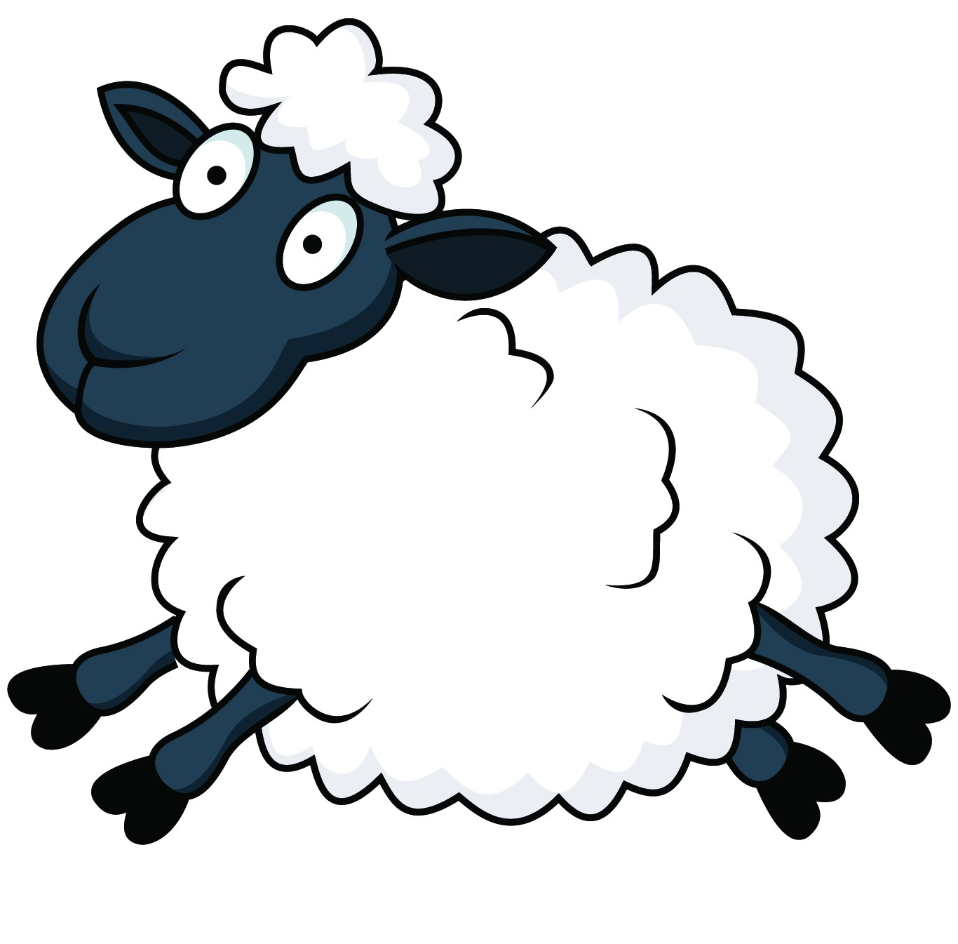 Sheep clipart cartoon #4