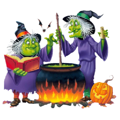 Witchcraft clipart three Halloween Witch painting Funny witch