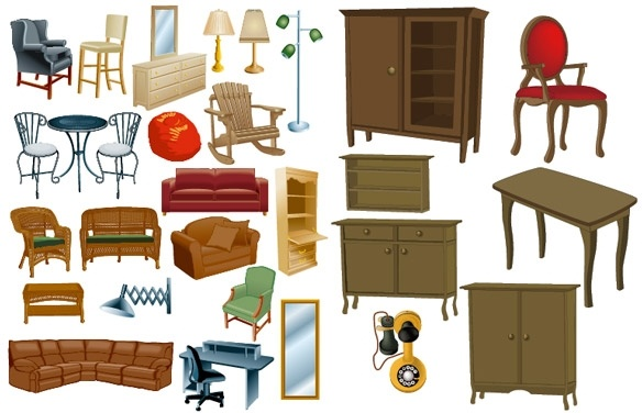 Furniture clipart Vector Home art eps Free