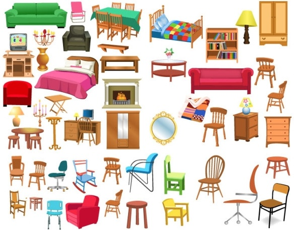 Furniture clipart living thing Vector Encapsulated clip art in