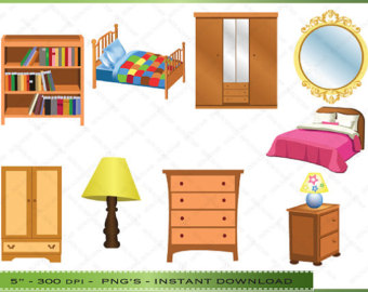 Bedroom clipart doll house #5