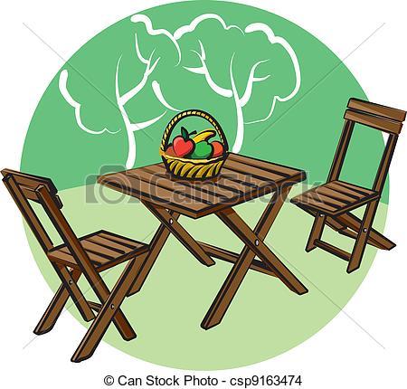 Furniture clipart artwork Garden garden garden csp9163474 furniture