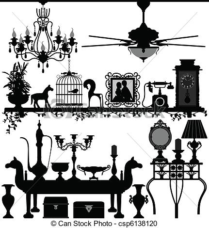 Illustration clipart home Antique Furniture csp6138120 A of