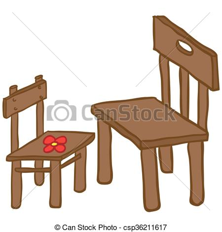 Furniture clipart artwork Of chairs Vector Art