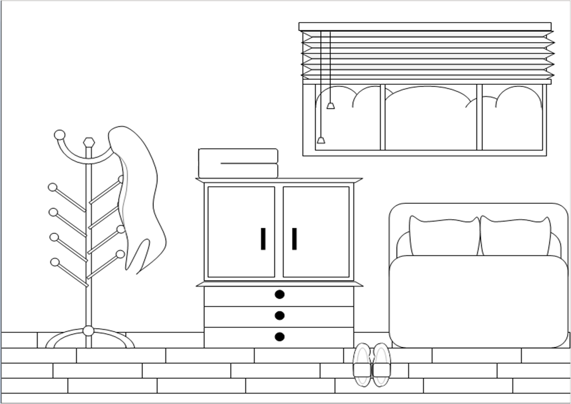 Bed clipart badroom Furniture and Clipart White Black