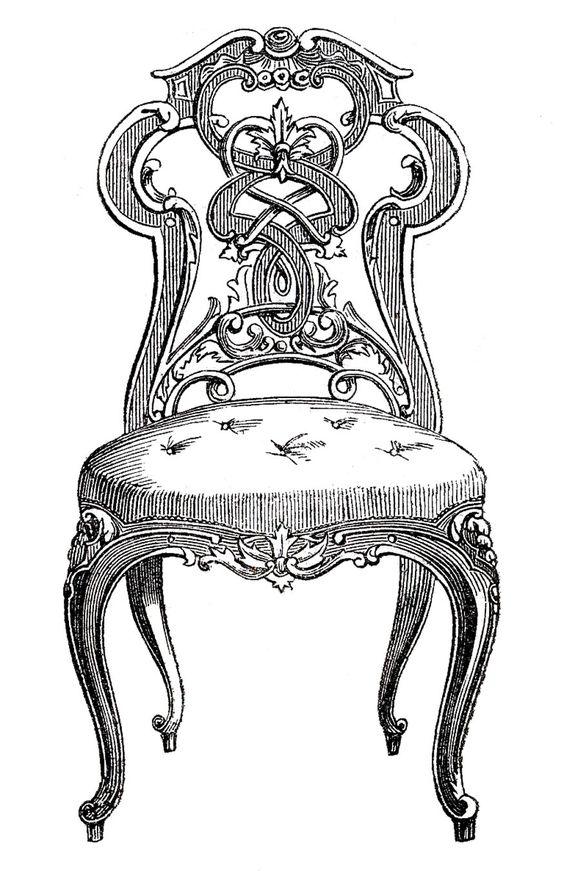Furniture clipart beautifull Clip Fairy Vintage Tufted Paris