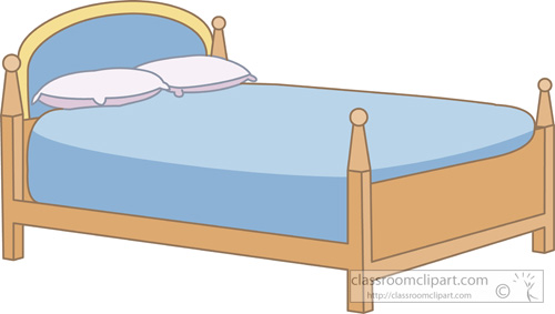 Bed clipart pilow Furniture Classroom jpg : Clipart