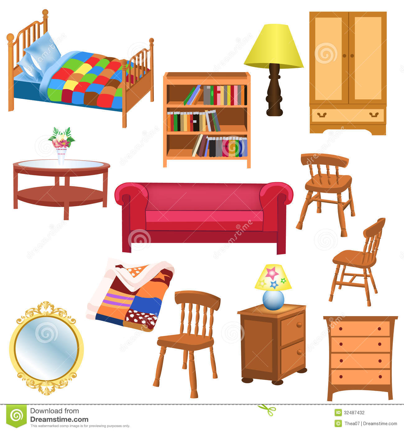 Living Room clipart my house Bedroom Art Furniture  Clipart