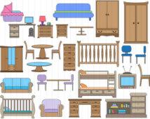 Furniture clipart bedroom furniture Furniture Clip Art Furniture Clipart