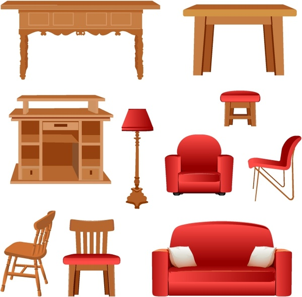 Desk clipart bedroom furniture Vector) for  (254 download