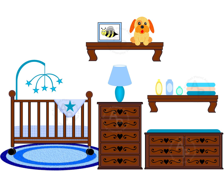 Furniture clipart bedroom item Printable Baby Art item? Crib