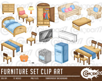 Furniture clipart bedroom item Items Clipart Bedroom Items Clipart