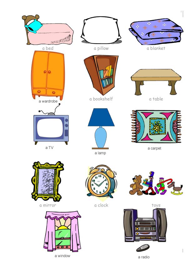 Furniture clipart bedroom item Awesome Bedroom Design Bedroom Items