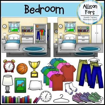 Furniture clipart bedroom item Photo House items Project bedroom