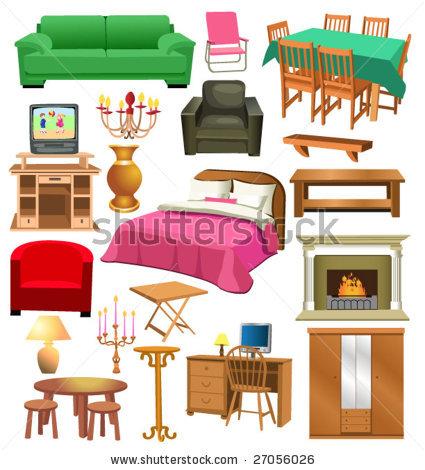 Desk clipart bedroom furniture Cliparts Living Furniture Clipart Furniture
