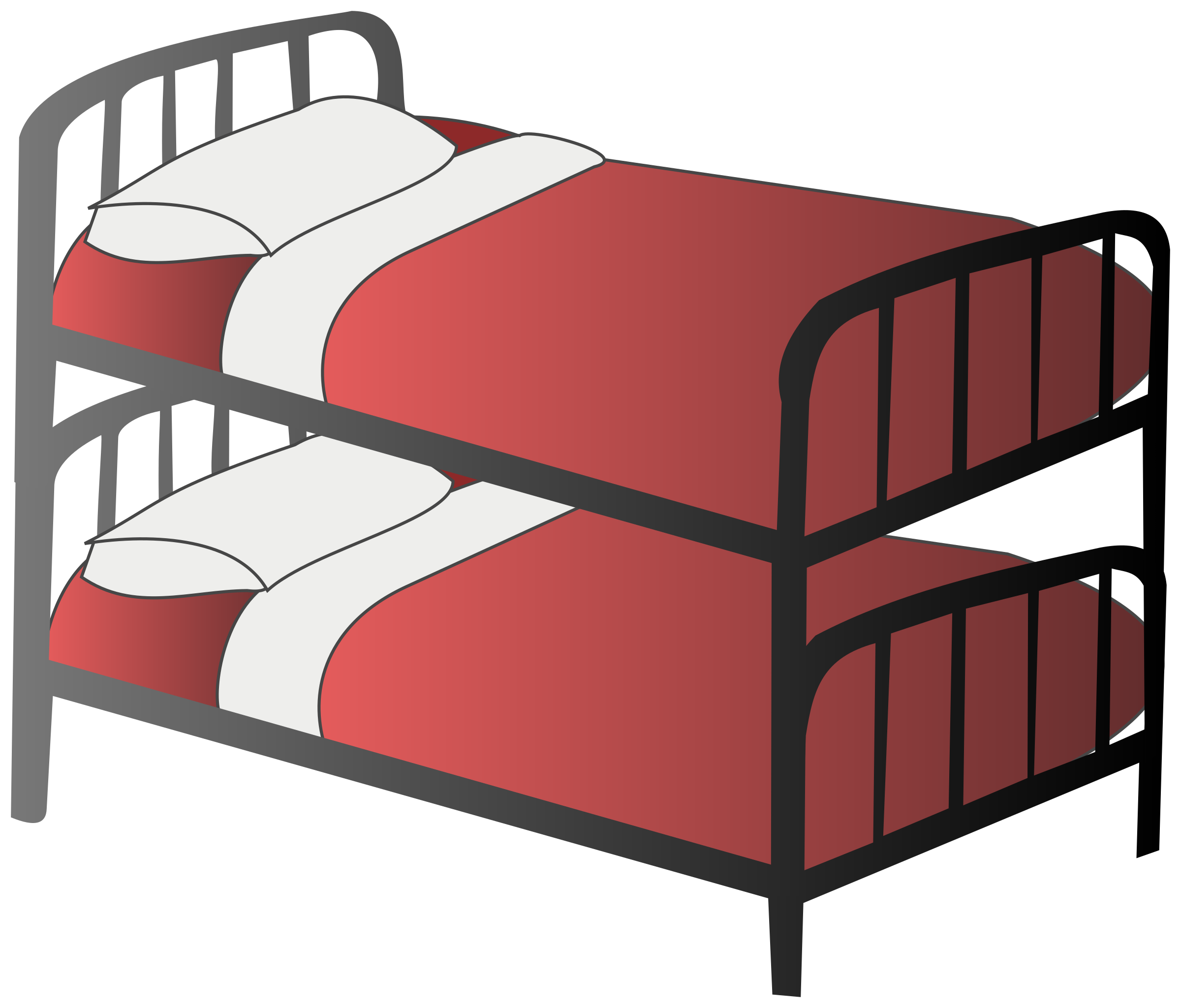 Pillow clipart bunkbed (PNG) Clipart bed IMAGE Bunk