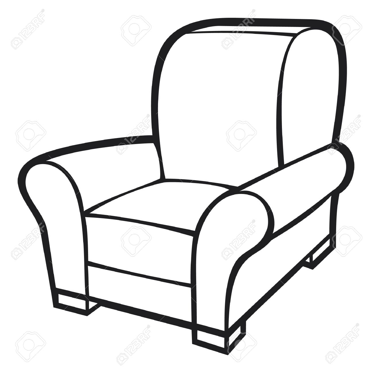 Drawn sofa cartoon Clipart Art Free chair%20clipart Clipart