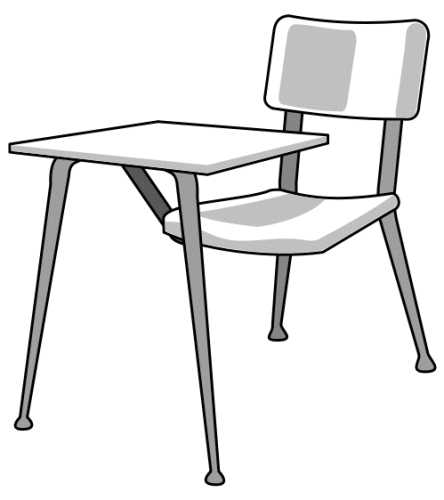Desk clipart classroom objects Zone white Cliparts objects clipart