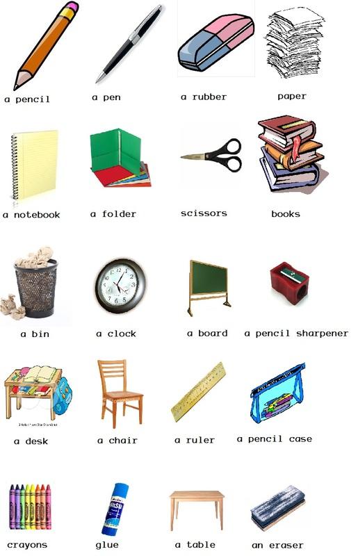 Desk clipart classroom objects Vocabulary SJR: 1 Picture Prathom