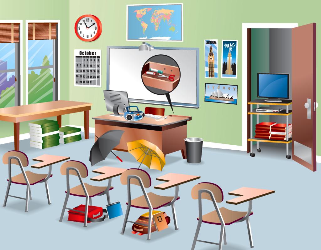 Desk clipart classroom objects COOL SCHOOL – IS