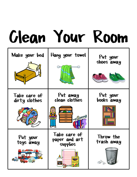 Bed clipart household chore Free this her to clean