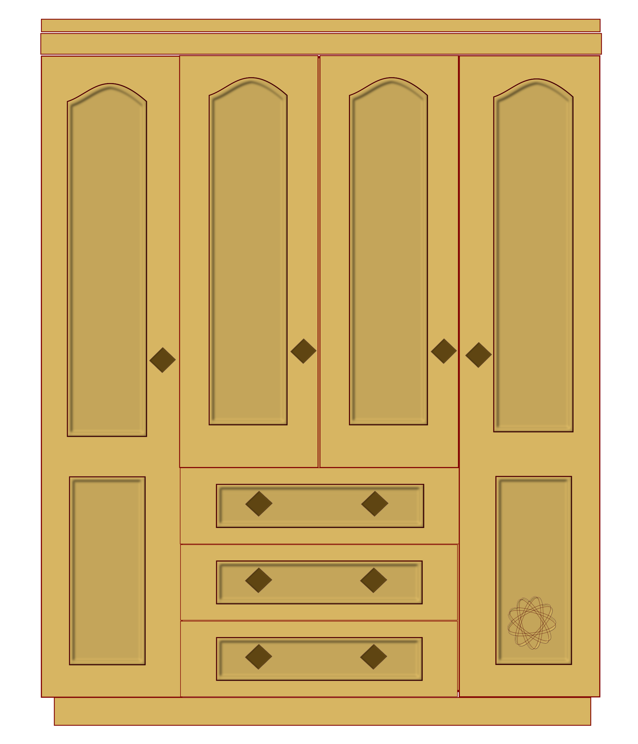 Furniture clipart closet #Closet black art images Closet