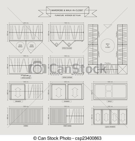 Furniture clipart closet Clip of  Icon in