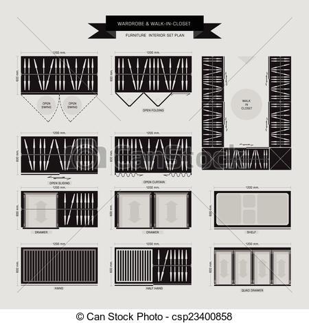 Furniture clipart closet Clipart Top in in closet