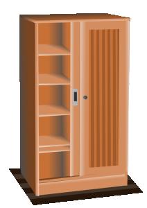 Furniture clipart closet Clip Download Brown Cupboard Closet