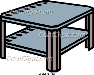 Furniture clipart coffee table Art coffee table end table