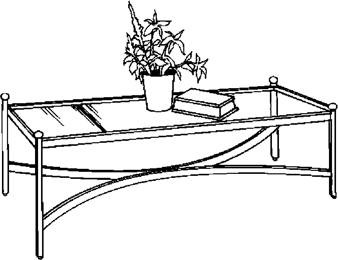 Furniture clipart coffee table White  Furniture Coloring Room