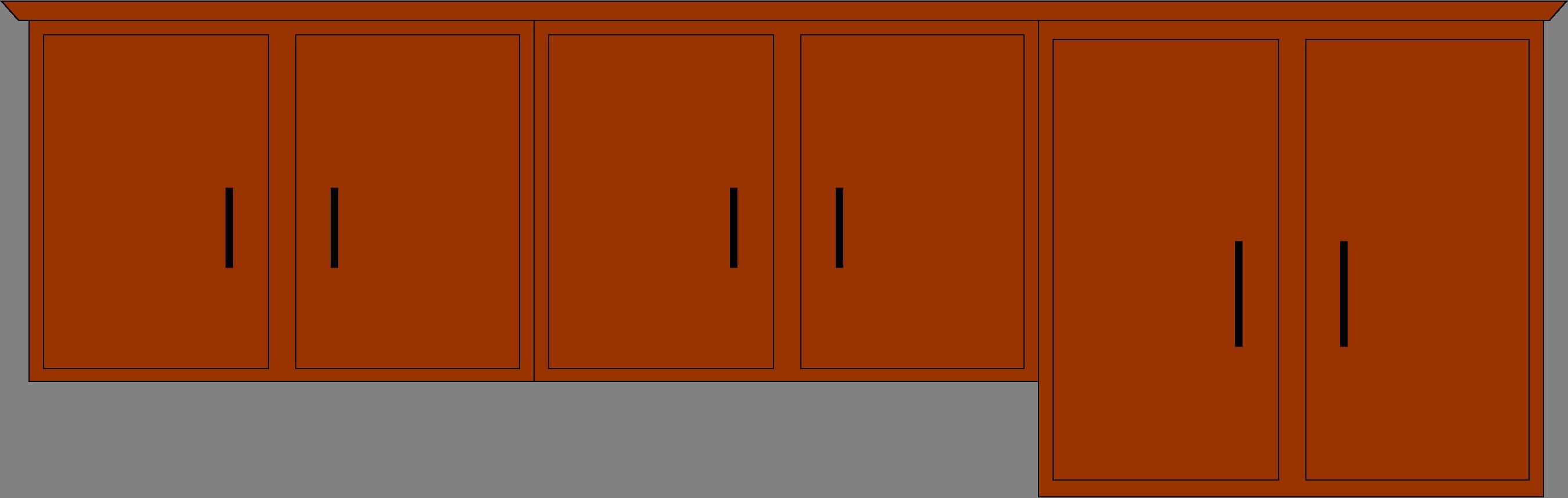 Kitchen clipart kitchen furniture  Cupboard art 2 vector