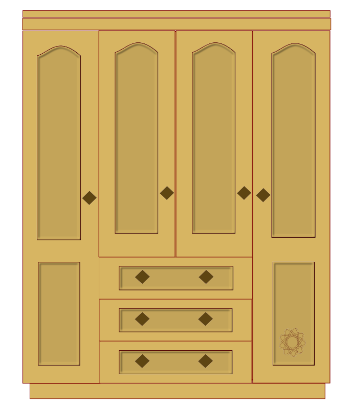 Bedroom clipart cupboard Pantry Furniture Clipart org Empty