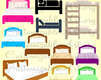 Bed clipart single bed Clipart bed Bunk King Bed