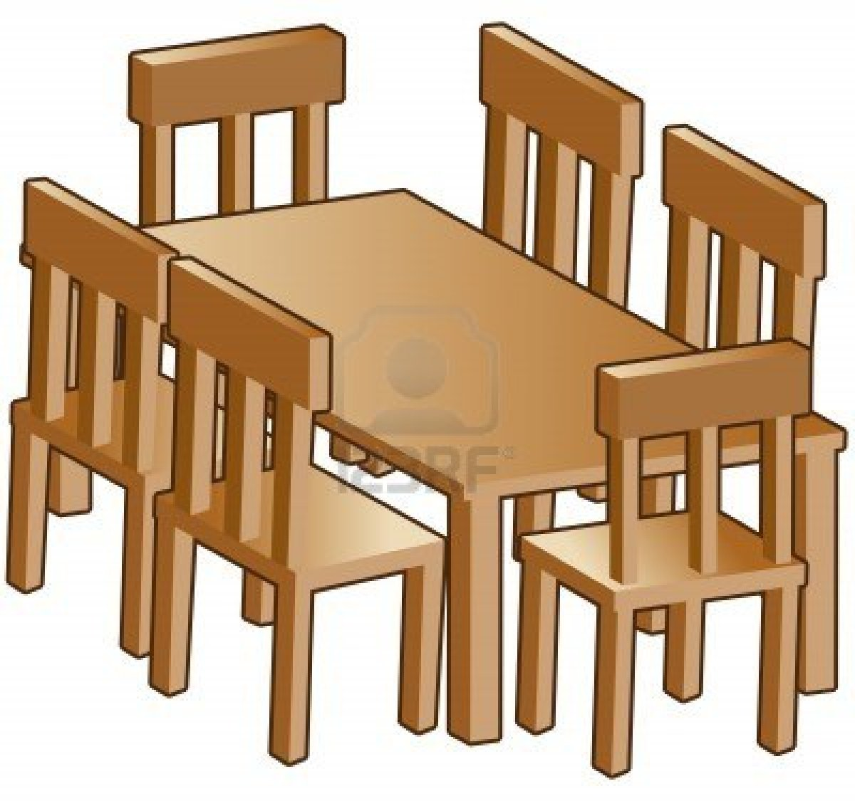 Kitchen clipart kitchen table Students — (3759) Clipart Table