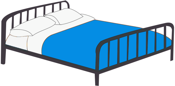 Furniture clipart double bed Of Bed 1 Free Public