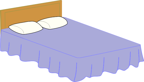 Furniture clipart double bed 1 Double bed Clipart page
