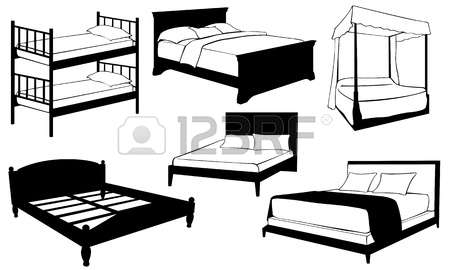 Furniture clipart double bed Clipart Royalty 179 Vector collections