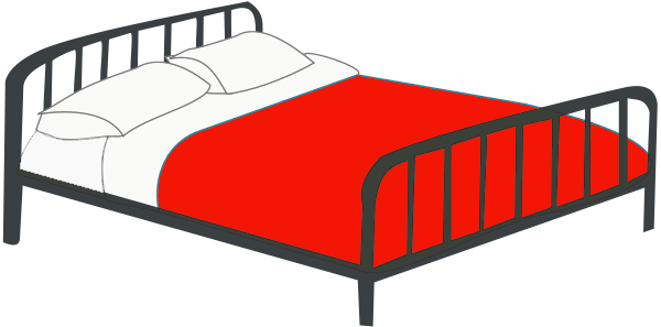 Furniture clipart double bed Of Bed 1 Clipart Free
