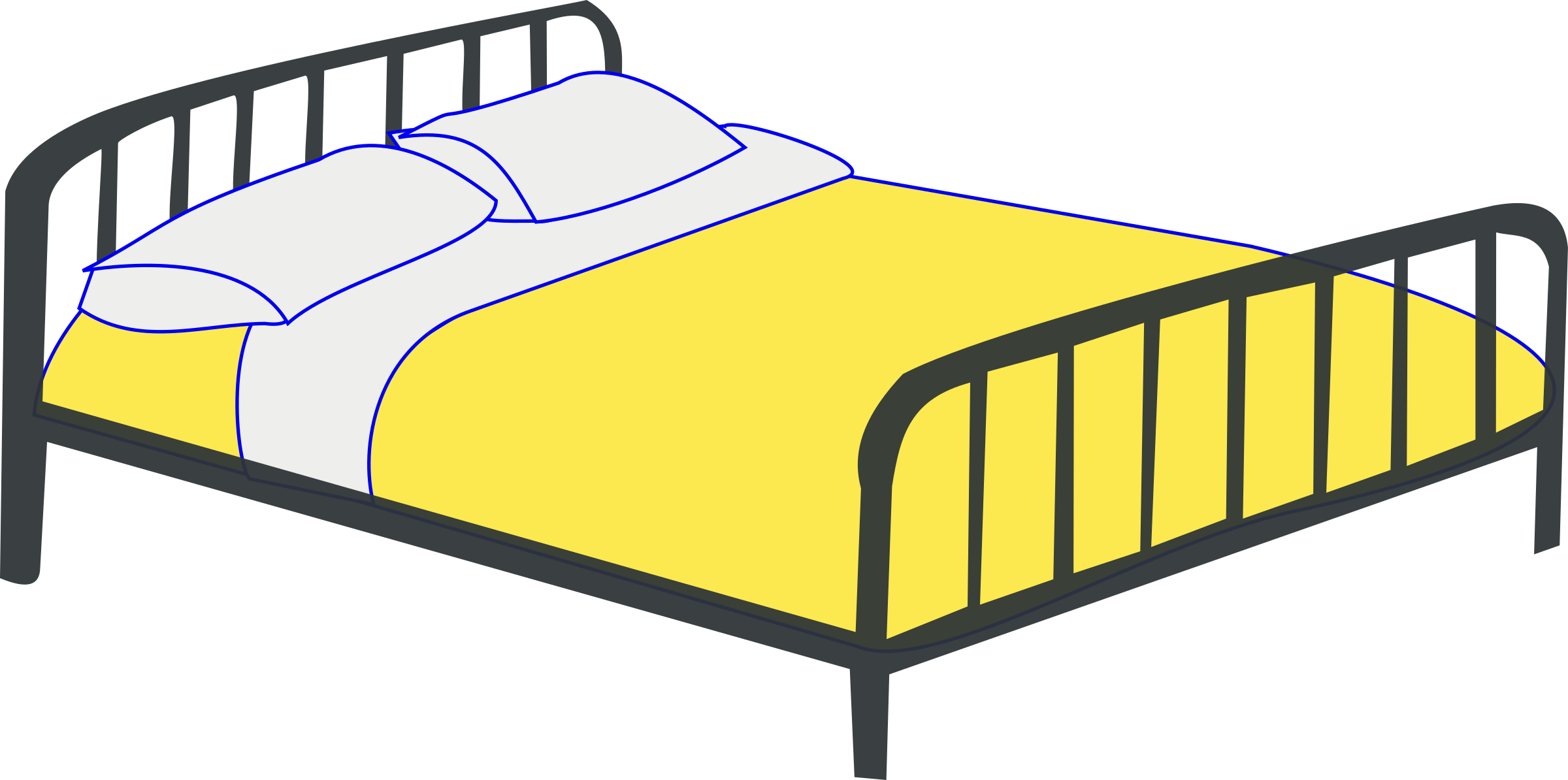 Furniture clipart double bed Bed Double Double Clipart Bed