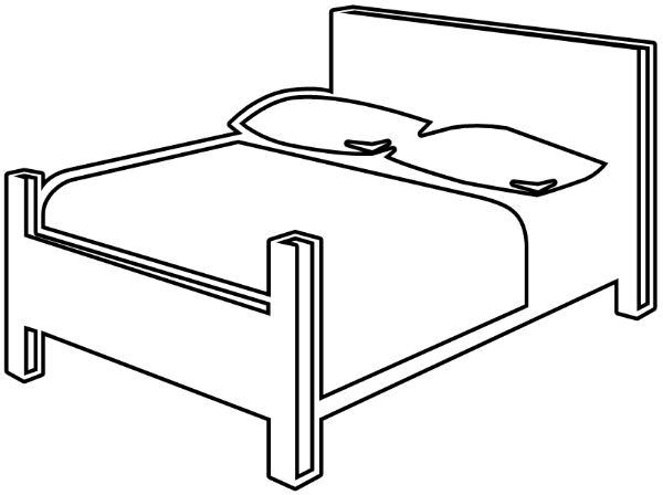 Furniture clipart double bed Page Bedroom Bedroom Page Art
