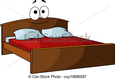 Furniture clipart double bed Bed Art Kid Linen clipart